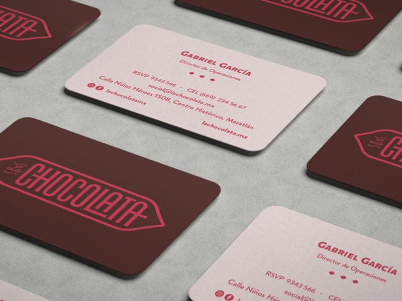 La chocolata | Business Card foodie brand identity design branding food business card identity brand design logotype logo restaurant