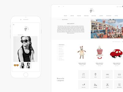 E-commerce design for family lifestyle brand icon design clean sleek elegant geometric cute ui minimal luxury icon vector branding website kids design