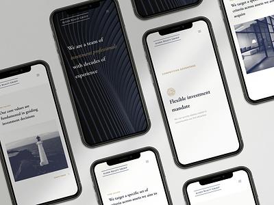 Responsive website design realstate beautiful branding minimal icon clean agency website design