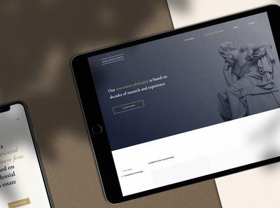 Website design for Investment firm