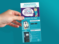 Rack Card Design: Downtown Parking