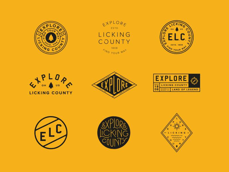 ELC Assets badge lock-up typography lettering