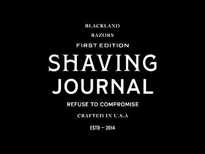 Shaving Journal barber razor journal shaving custom lettering type