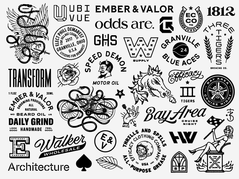 A Graphic Collection of Sorts mark custom typography logo identity illustration type lettering