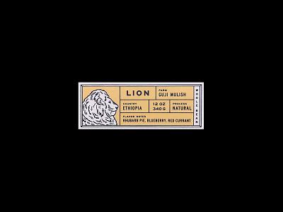 RCR Lion Label illustration coffee product packaging label label design