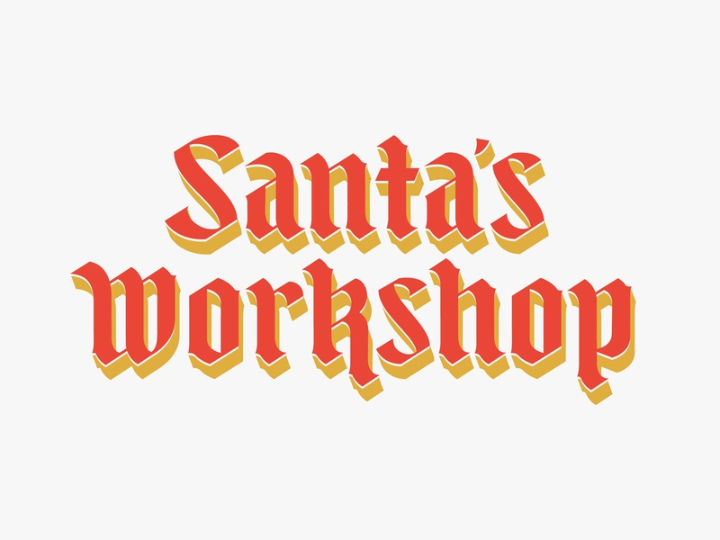 SW Blackletter holiday christmas typography type lettering