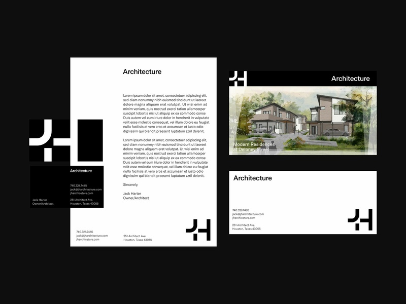 JH Architecture I monogram logodesign logo architecture identity