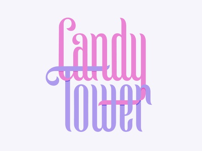 Candy Tower candy christmas type lettering
