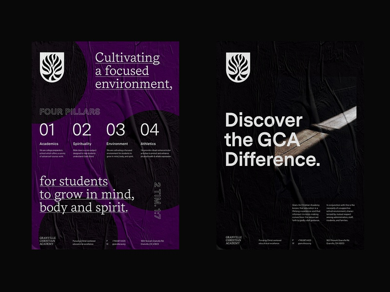GCA Posters layout grid type school education identity poster