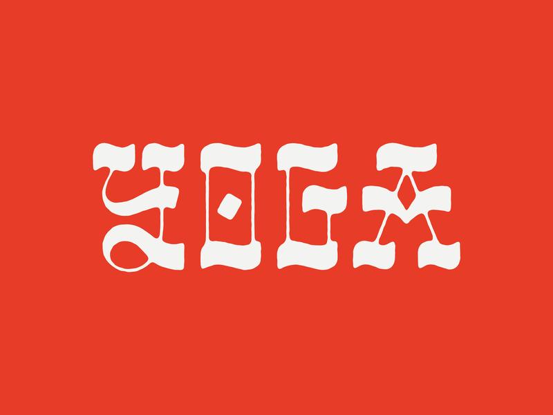 Yoga Type yoga type lettering lettering art lettering