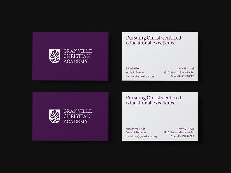 GCA Business Card identity education school business card