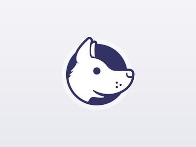 In memory of ... service startup geometry illustration brand logo identity smile happy animal cute dog