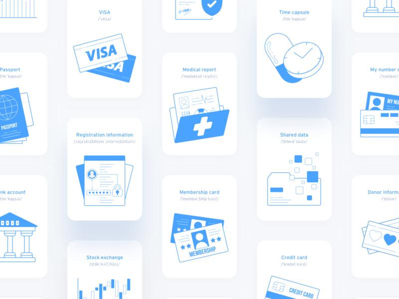 UI practice | Vocabulary cards UI concept cards ui language learning mobile design clean ui app design ui ux illustration