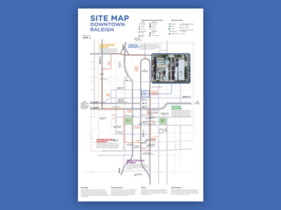 Grad School Throwback: Downtown Raleigh Site Map