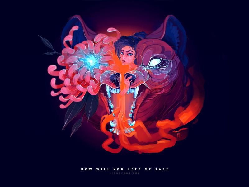 Wolf & Girl Illustration