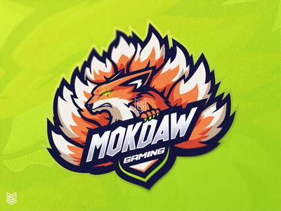 Kyubi Fox Esport Mascot Logo | MOKDAW | For sale wolves foxes foxy sports logo orange fox fox logo kyubi branding esport logo design logo streamer illustration gamer esportlogo esport drawing mascot