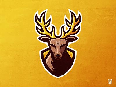 Deer Esport Logo Mascot deer mascot deer illustration deer head deer logo deer adobe illustrator esport logo illustration design logo gaming gamer esport coreldraw mascot