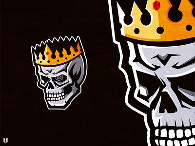 Skull King Esport mascot logo kings king skull logo skull and crossbones drawing illustration streamer esportlogo coreldraw logo gaming gamer esport mascot