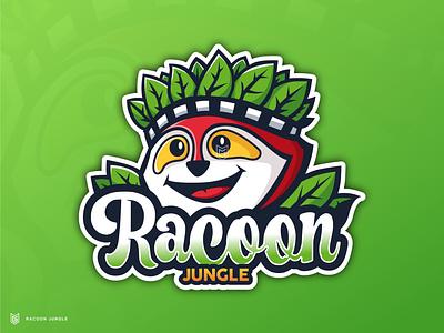 Raccoon Mascot Logo animal raccoon mascot logo product logo design product design drawing illustration streamer esportlogo coreldraw logo gaming gamer esport mascot