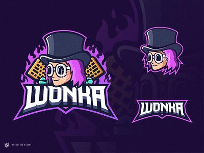 WONKA MASCO LOGO drawing illustration streamer esportlogo logo coreldraw gaming gamer esport mascot design