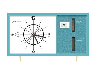 Radio Clock debut clock mid century radio