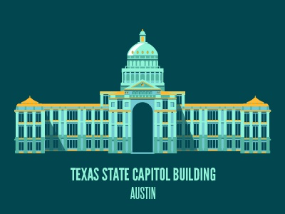 Texas State Capitol flat building sxsw