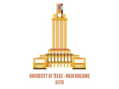 Main Building austin sxsw flat building architecture texas