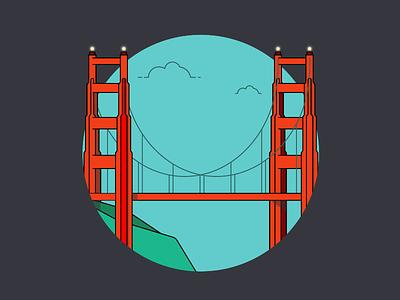 Golden Gate Bridge san francisco illustration bridge