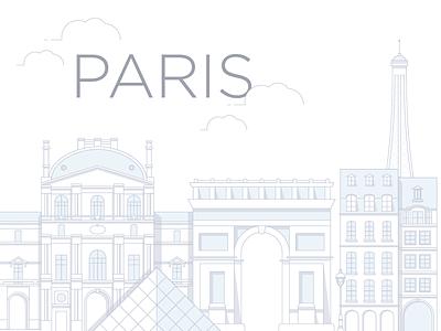 Paris Email Header buildings illustration paris