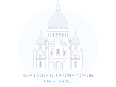 Sacré-Coeur buildings illustration paris