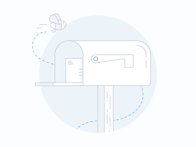 Product Illustrations illustration bee mailbox