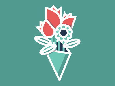 Flower Icon flowers illustration flat tribute icons