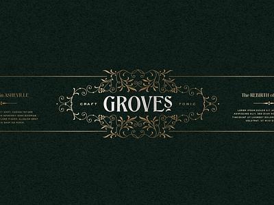 Grove's Style type vintage label brand logo victorian