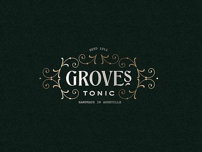 Grove's Tonic branding vintage victorian type design label brand