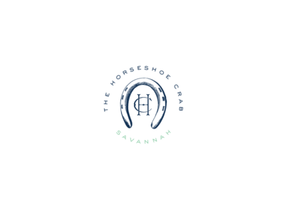 Seal horseshoe crab company logo lockup sweet sans