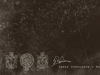 Donaldson Marks brand logo scotland scottish coat of arms heraldry macdonald donaldson crest
