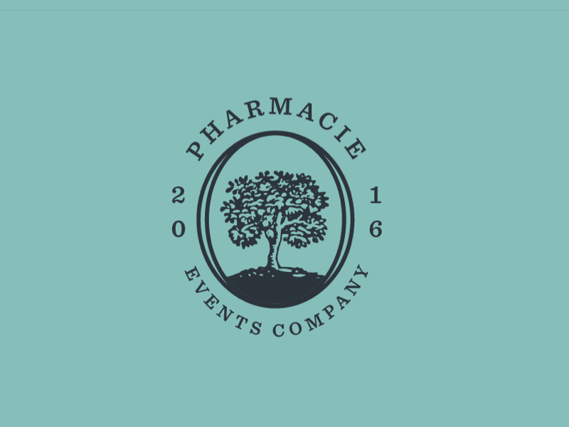 pharmacie tree logo design