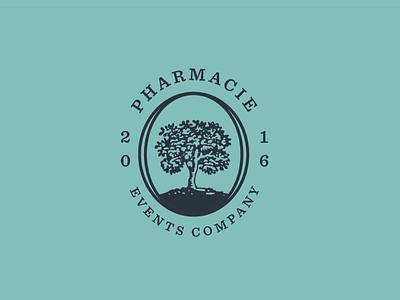 Pharmacie Events Logo Explorations seal crest logo pharmacie pharmacy tree