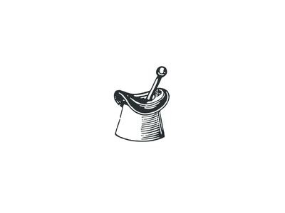 Classy Mortar & Pestle illustration logo pharmacie pharmacy pestle mortar hat top