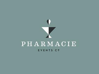 Retro Modern style explorations brand logo events pharmacy pharmacie neutraface eames mod modern retro
