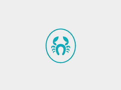 Horseshoe Crab Rebrand savannah teal horseshoe brand logo crest crab