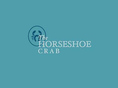 The Horseshoe Crab engravers teal brand seal crest crab type hoefler logo