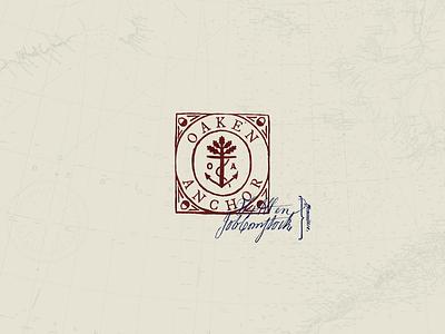 Oaken Anchor seal oak anchor stamp logo crest brand
