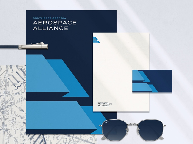 SG Aerospace Alliance Branding pencil sans serif stationary collateral branding brand fort foundry termina aerospace aa monogram a monogram aa flag airplane