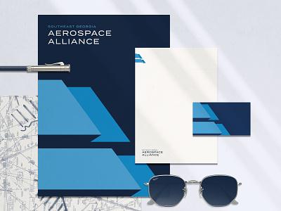 SG Aerospace Alliance Branding pencil sans serif stationary collateral branding brand fort foundry termina aerospace aa monogram a monogram aa flag airplane