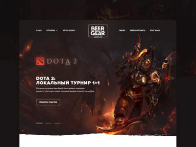 Beer&Gear slider clean web ui navigation menu webdesign icons flat website