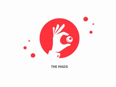 New agency logo white red studio agency branding design logo design logo