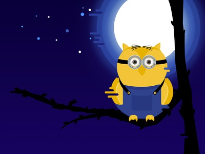 Character Design character design minion owl night illustration