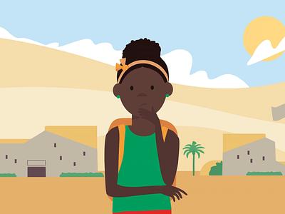 HPV vaccine toolkit girl school framebyframe toonboom moho12 moho character design cel animation vector character animation design illustration motion graphics 2d animation animation after effects