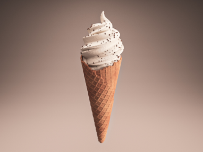Cream it! motion graphics art sexy sweet ice-cream render lighting colour after effects redshift 3d c4d